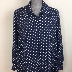 VTG Rebecca Stuart Polka Dot Full Length Dress